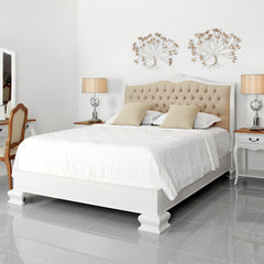 furniture bali surabaya palembang bed white tufted dekoruma