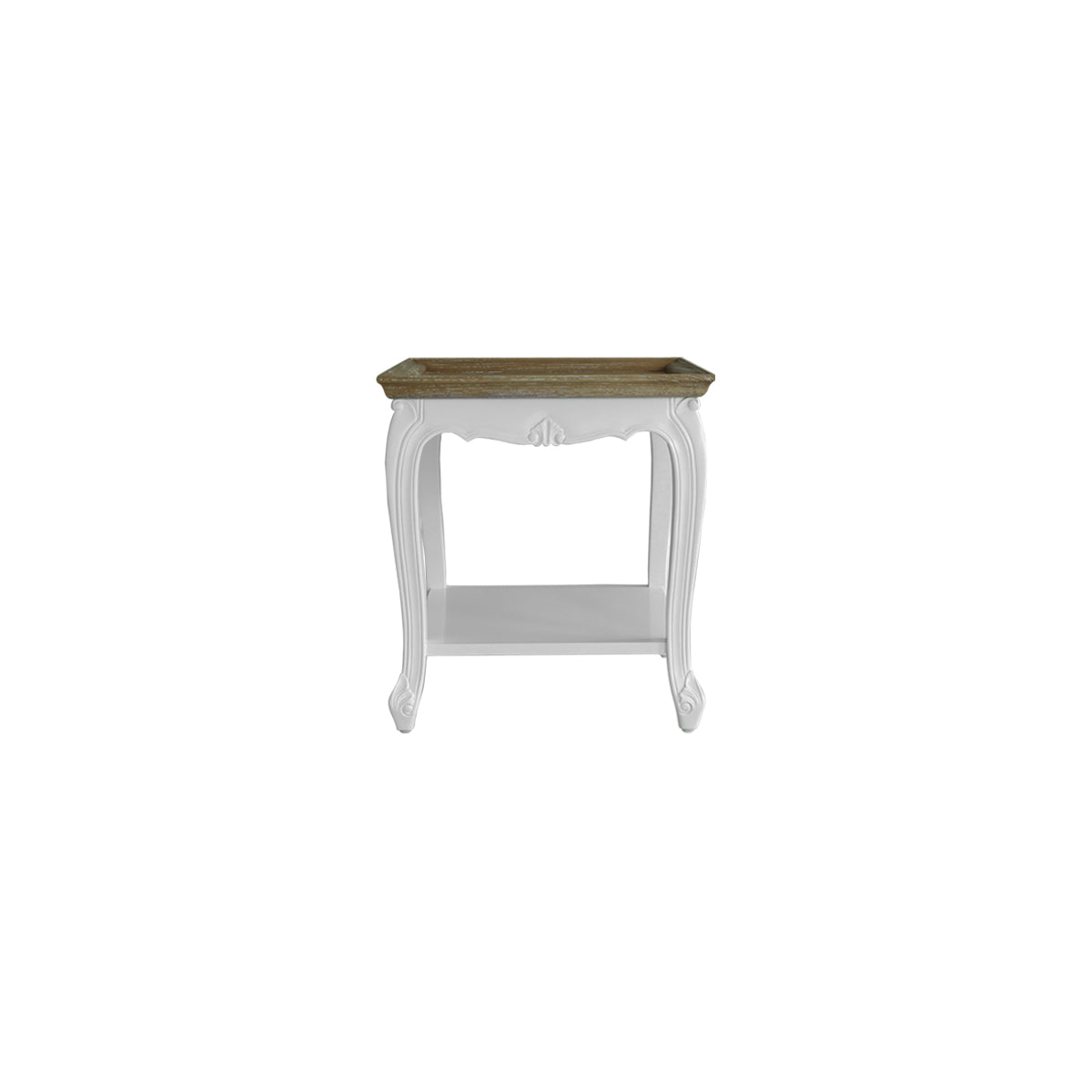 wood furniture square side table meja curvy legs