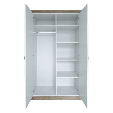 furniture wardrobe jakarta wood two doors storage