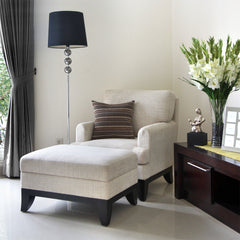 Boston Wing Chair + Ottoman - Vinoti Living