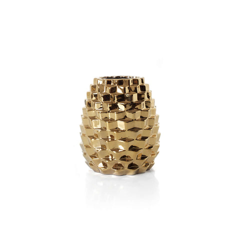 Costa Gold Pine Vase Short