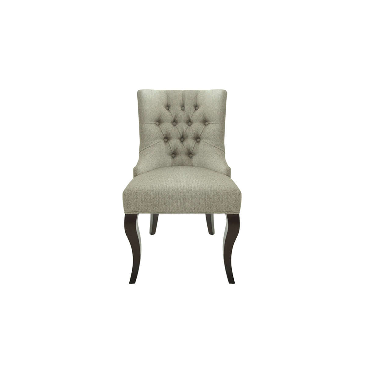 wingback dining chair with glossy curved legs, made in indonesia