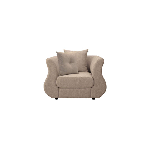 1 seat distinct curved arm sofa chair