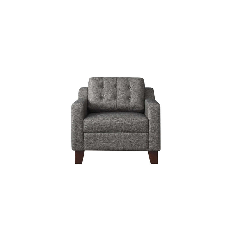 tufted one seat sofa with a modern design