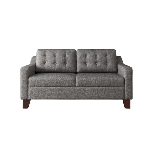 two seat sofa with tufted back and modern style