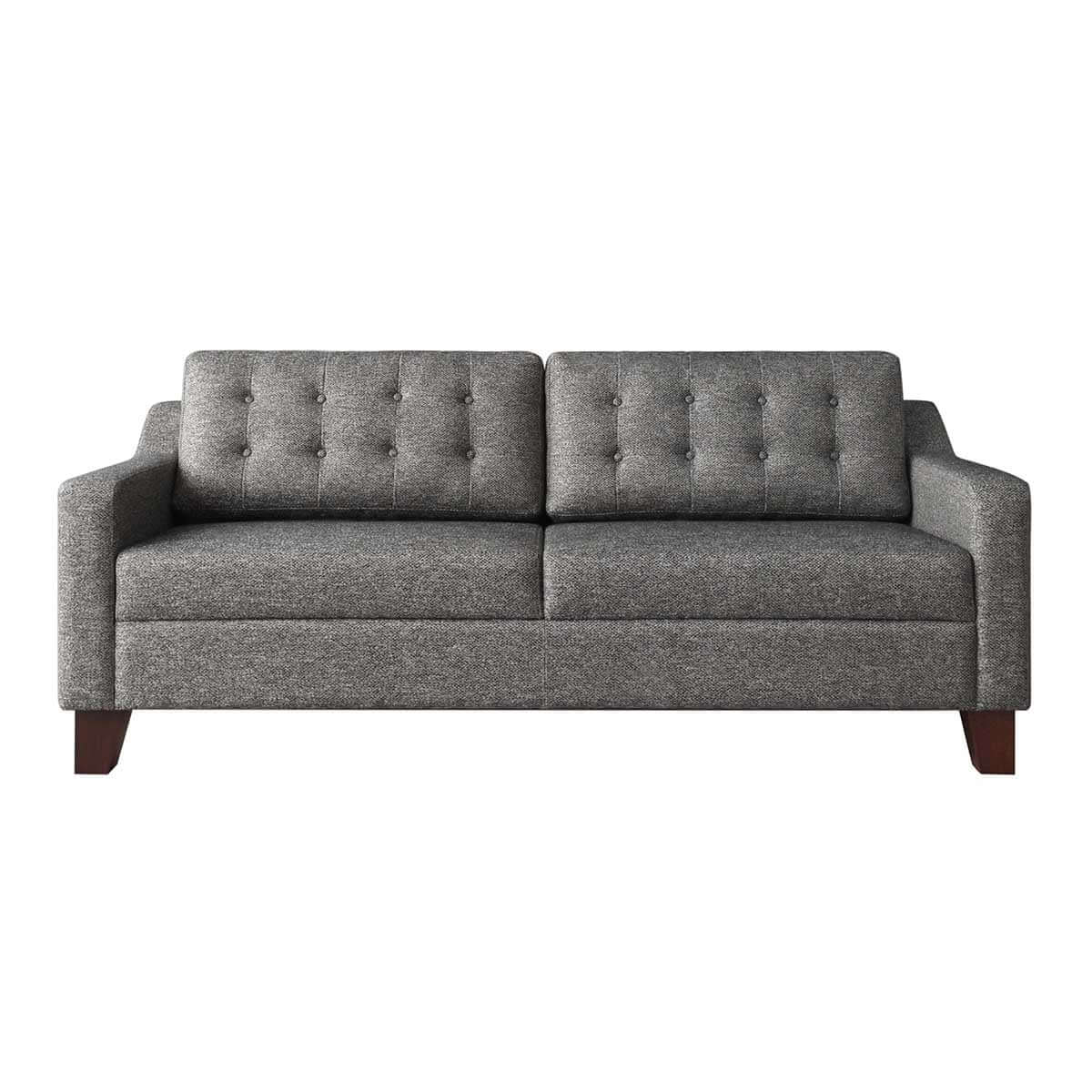 three seat sofa with tufted back