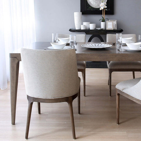 indonesian furniture - brown slim style dining table