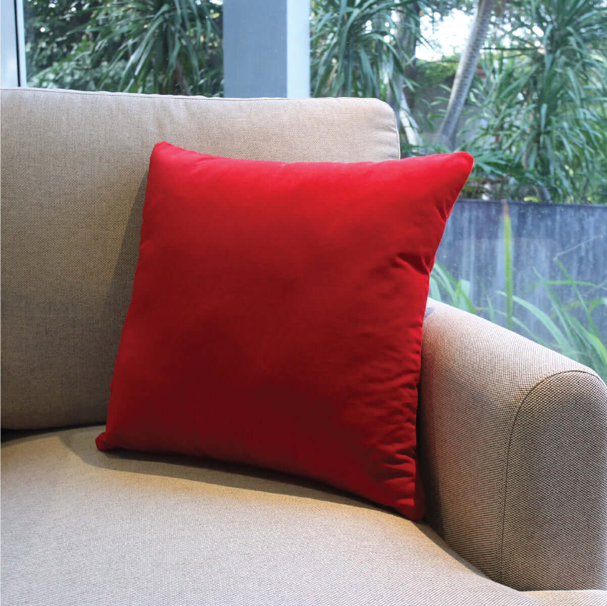 Simply Red Cushion Cover
