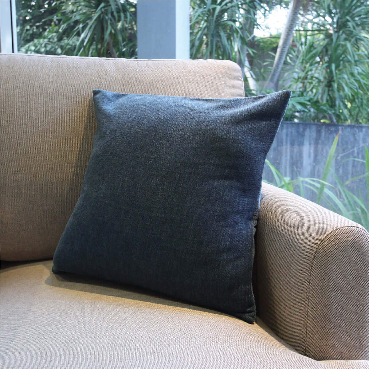 Washed Indigo Cushion Cover