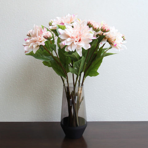 Dahlia White Pink With 1 Bud - 85 CM