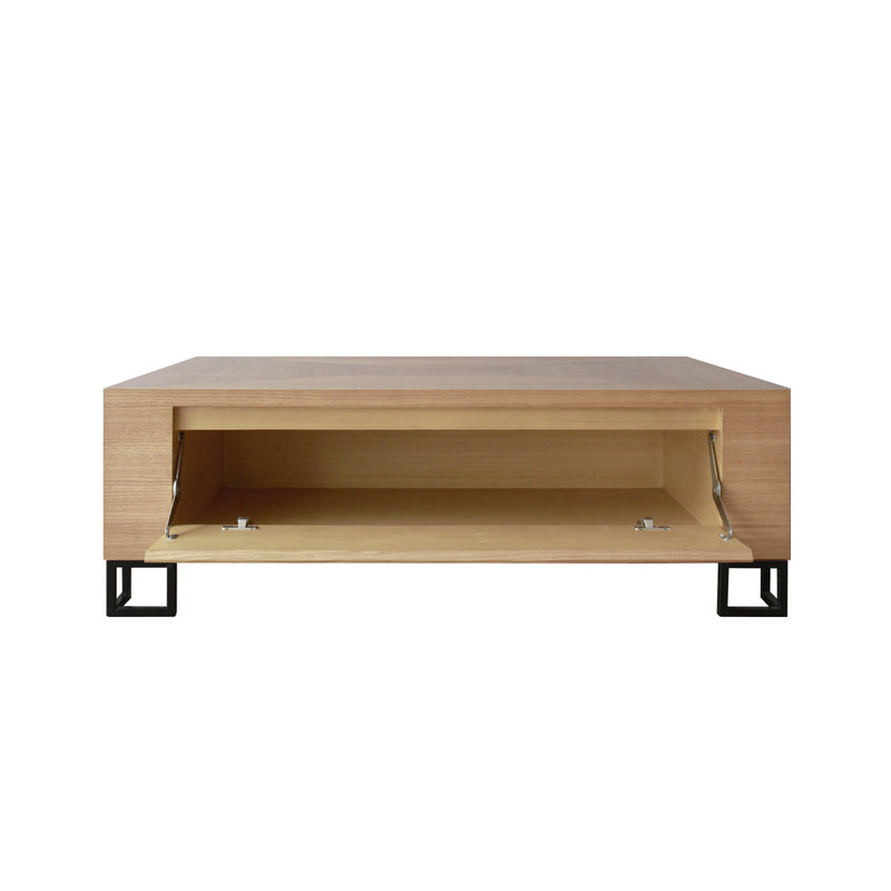 semi-industrial yet stylish dexter rectangular coffee table