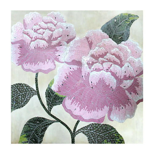 flower mosaic artwork painting accessories and decor di indonesia