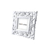 Joy Floral Square Frame - White