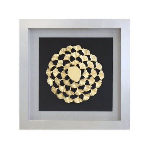 dekoruma artwork ginkgo gold design square with circular design