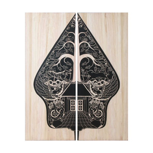 artwork and wall art - hiasan dinding - Gunungan - Natural/ Black - vinoti living furniture and decor di indonesia