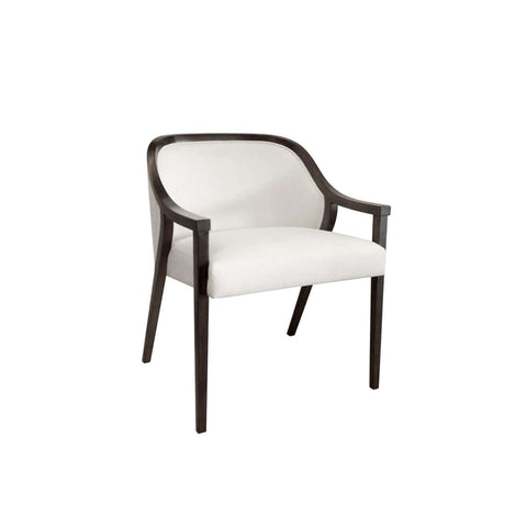 arm dining chair glossy wooden trim with straight legs