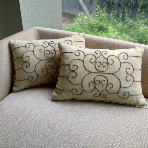 Arlene Curly Cushion set of 2