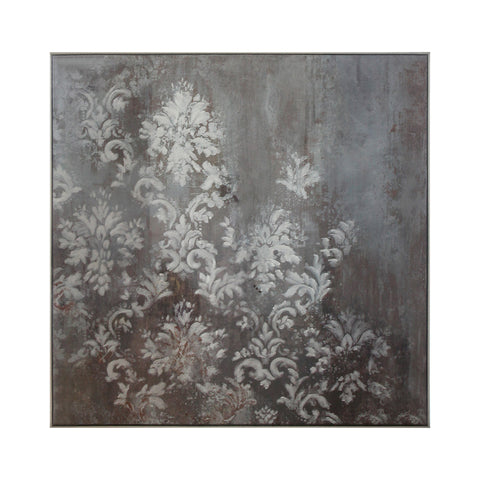 Iris Damask Metal Painting