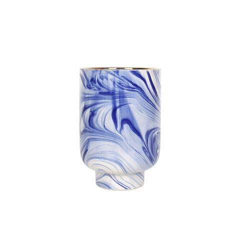 Aliya Vase Tall - Blue