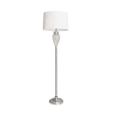 Luxor Ribbed Glass Standing Lamp