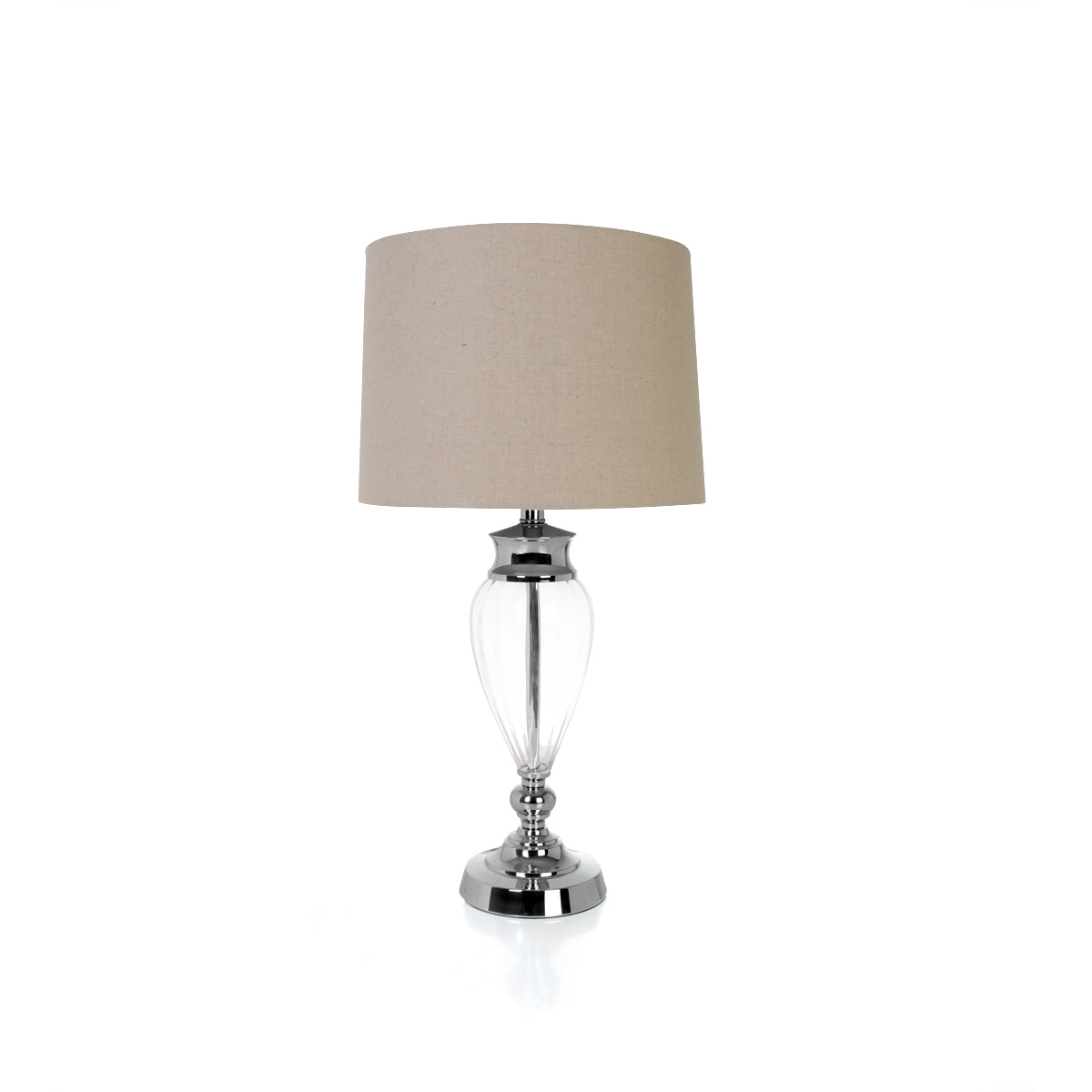 Luxor Ribbed Glass Table Lamp - B - Vinoti Living
