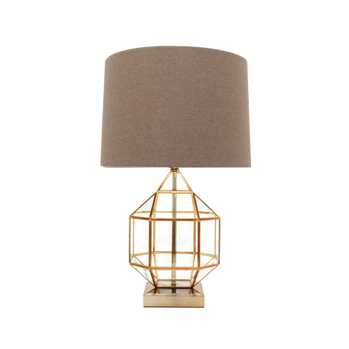 Lumiere Gold Cage Table Lamp