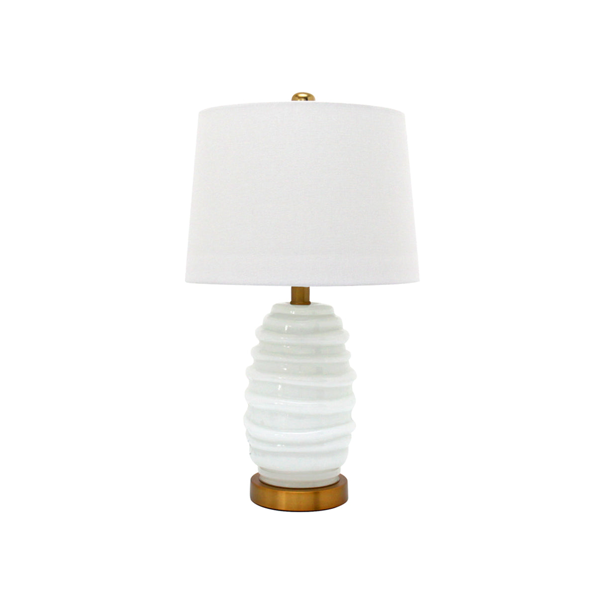Lumiere White Cocoon Table Lamp