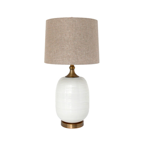 Lumiere White Orb Table Lamp