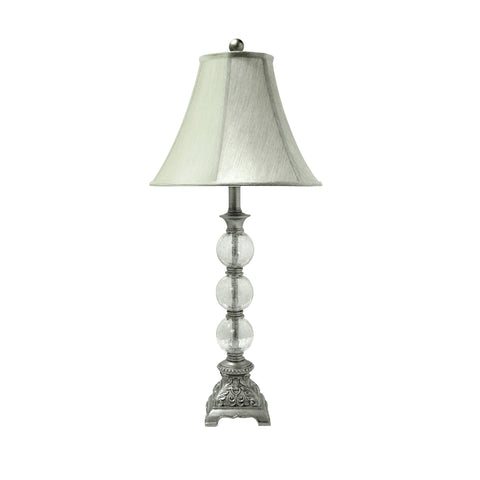 Morgan Trio Bubble with Lace Table Lamp