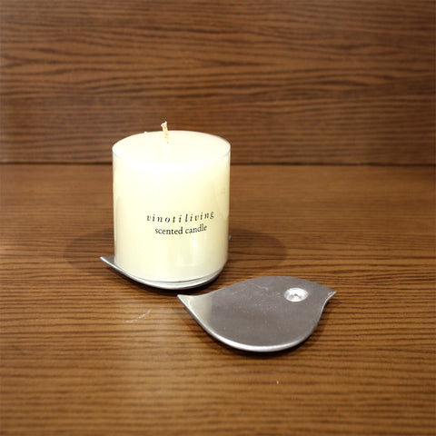 Malika Bird Alumunium Tealight Holder - Vinoti Living
