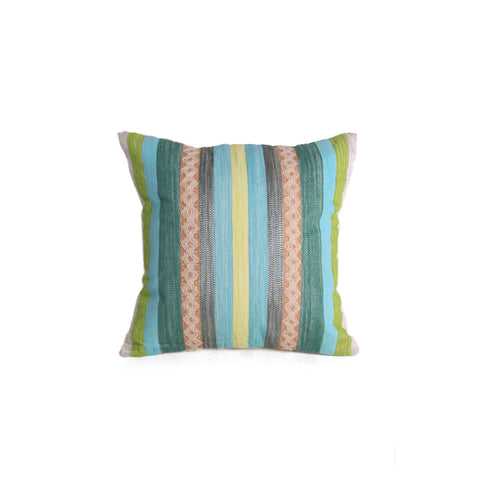Mishka Aqua Stripes Cushion Cover