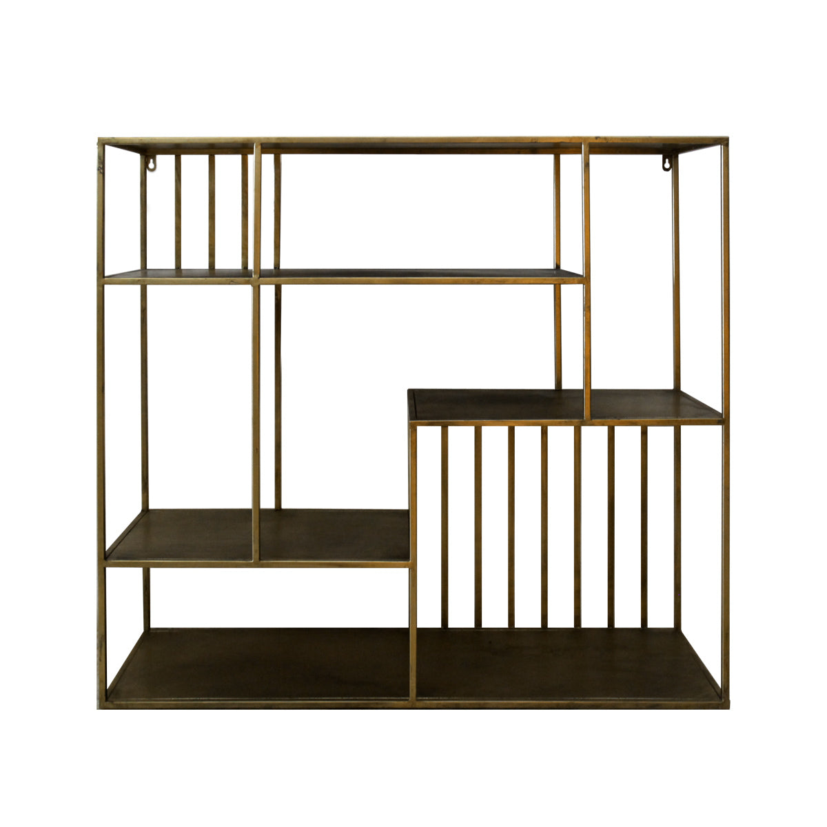 Nile Wall Rack - Rustic Gold