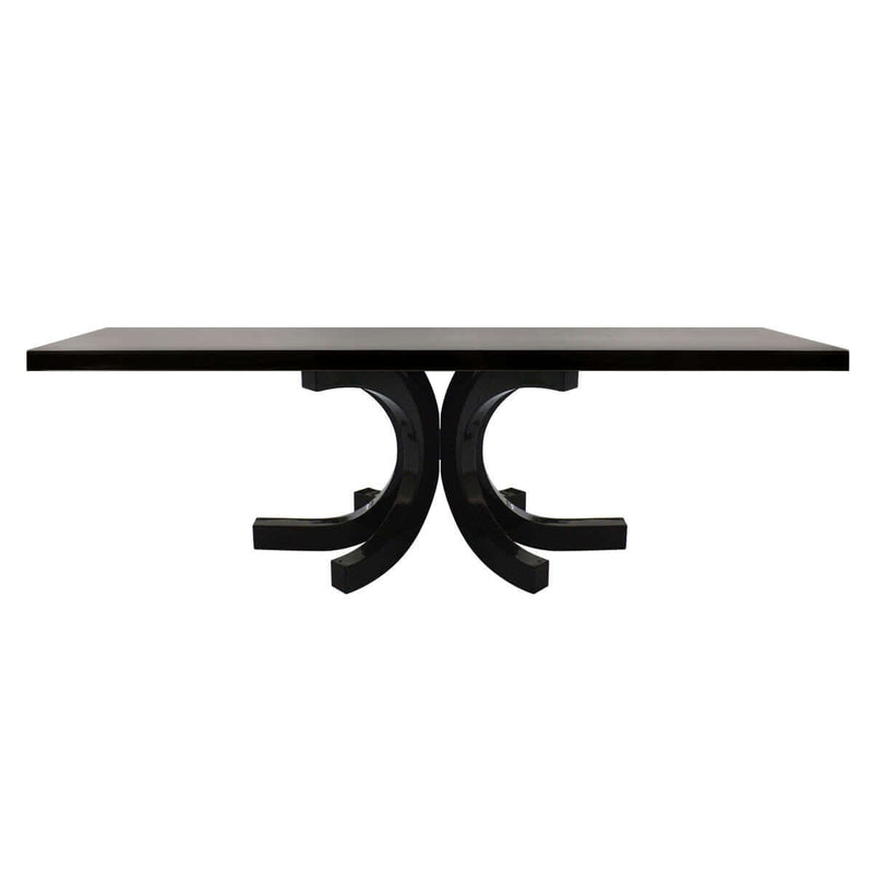 furniture online indonesia - glossy rectangular dining table