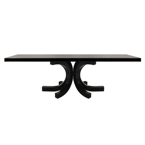 indonesian furniture - rectangular and gloss dining table available in Jakarta and Surabaya