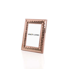 Odessa Textured Photo Frame - Rose Gold