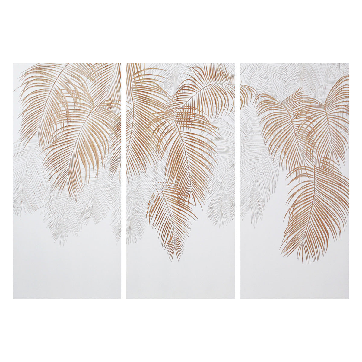 Palm Canopy - White / Natural