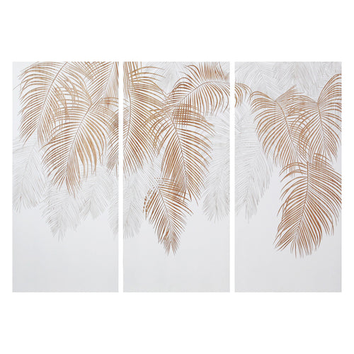artwork and wall art - hiasan dinding - Palm Canopy - White / Natural - vinoti living furniture and decor di indonesia