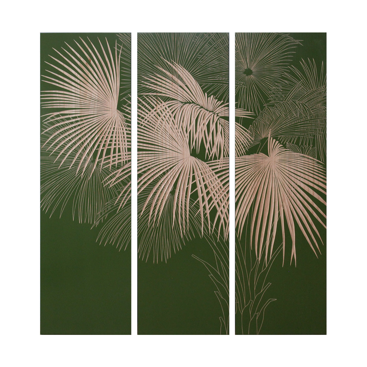 Palm Shade - Green / Natural