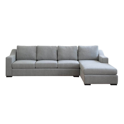 Presidio l shape three seat sofa with prestigious accent arm