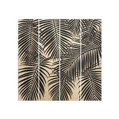 Royal Palm set of 4 Wood Carving