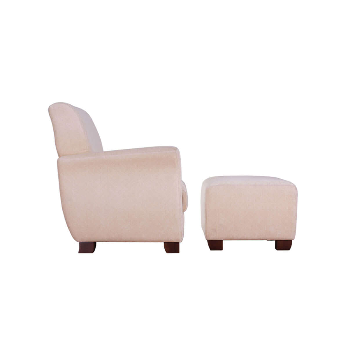 chair and ottoman sleek round