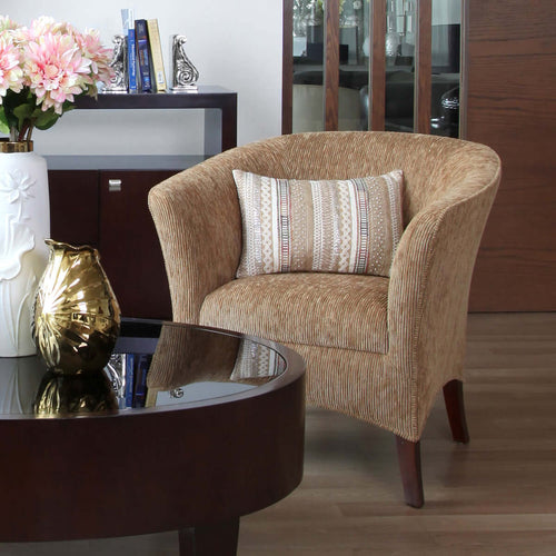 wood chair fabric round kursi furniture jakarta