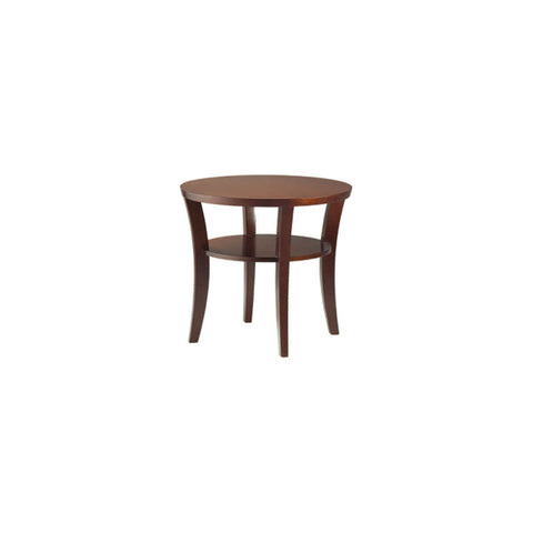 brown round side table furniture jakarta makassar