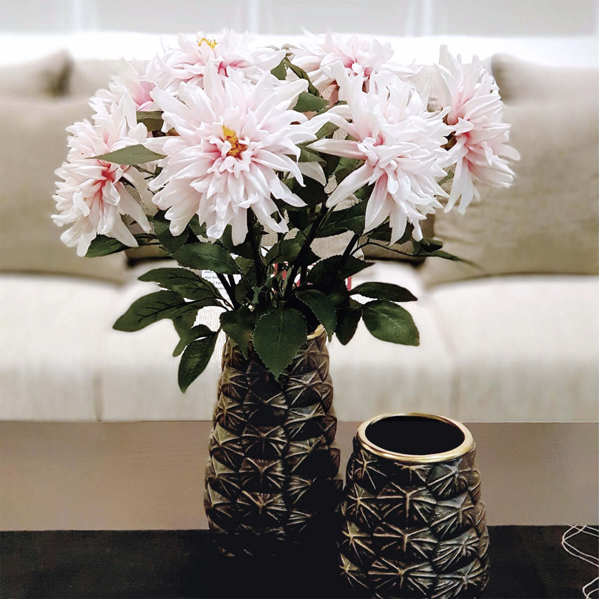 Single Chrysanthemum Pink - Set of 6