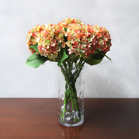 Single Hydrangea - Orange