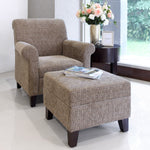 timeless wing chair and ottoman set