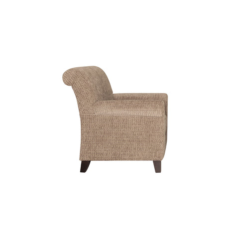 side view wing chair wooden legs