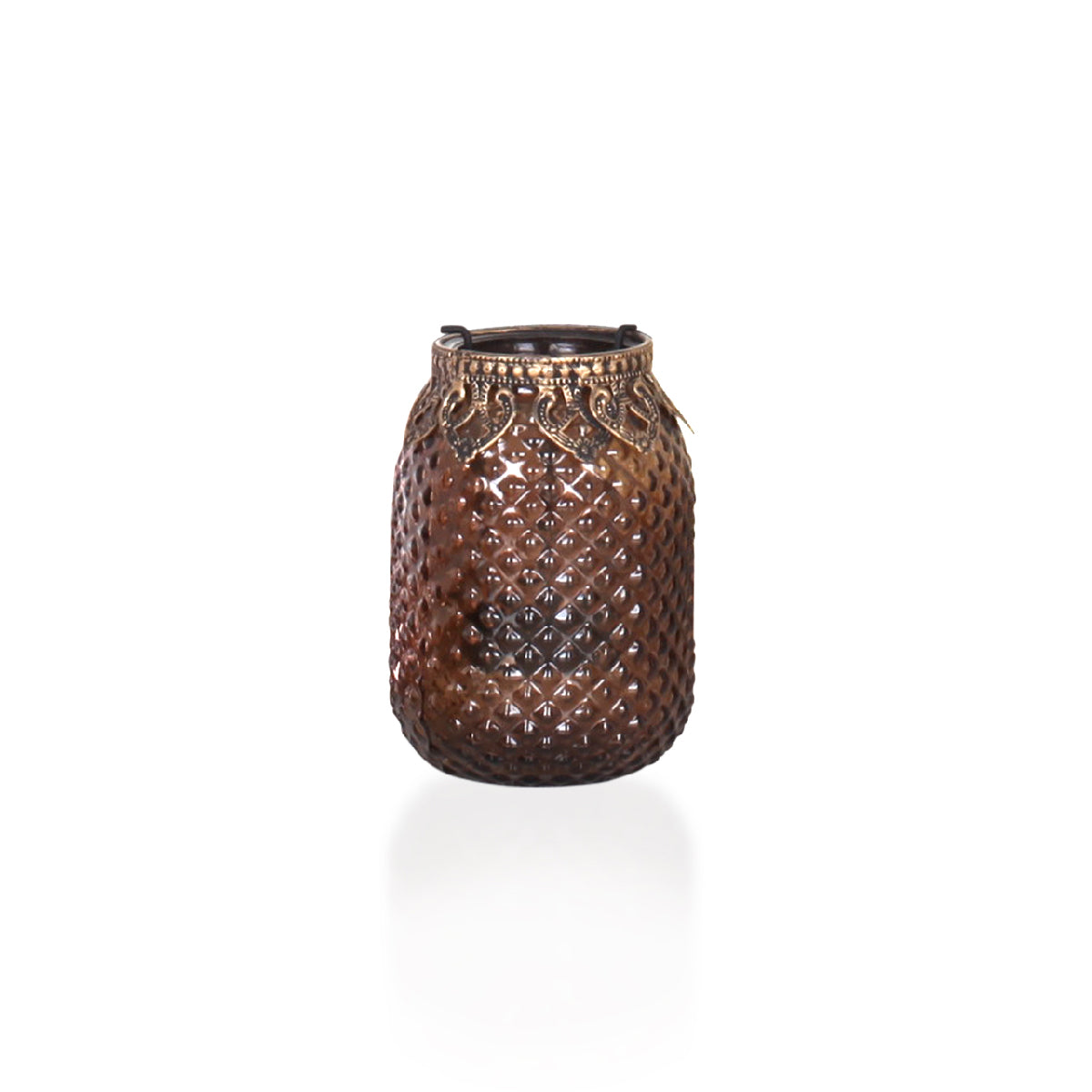 Agra Candle Holder Bronze - Vinoti Living