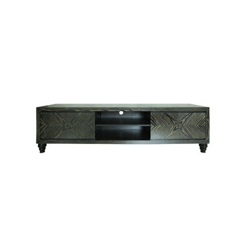 tv bench with gold grain and storage compartments
