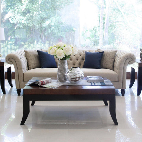 furniture bali sofa jakarta tufted mahogany three seat sofa satin legs